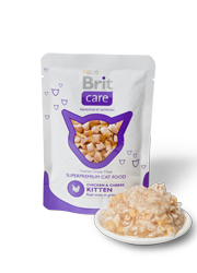 BRIT CARE CAT POUCH KITTEN CHICKEN & CHEESE