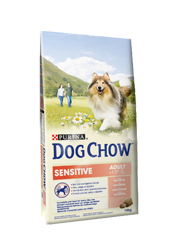 DOG CHOW ADULT SENSITIVE Z ŁOSOSIEM