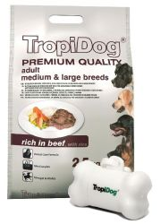 TROPIDOG PREMIUM ADULT MEDIUM / LARGE WOŁOWINA I RYŻ