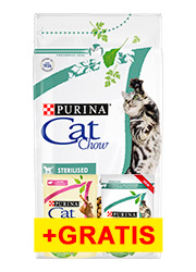 CAT CHOW ADULT SPECIAL CARE STERILIZED + 2 saszetki gratis