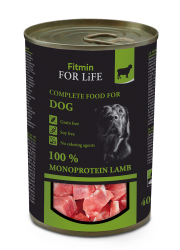 FITMIN DOG FOR LIFE MONOPROTEIN LAMB