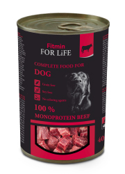 FITMIN DOG FOR LIFE MONOPROTEIN BEEF