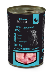 FITMIN DOG FOR LIFE MONOPROTEIN TURKEY