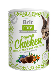BRIT CARE CAT SNACK SUPERFRUITS PRZYSMAK DLA KOTA - z łososiem