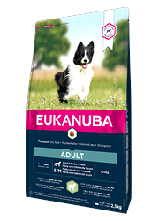 EUKANUBA ADULT SMALL / MEDIUM BREED LAMB and RICE KARMA DLA PSA
