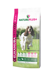 EUKANUBA NATURE PLUS ADULT MEDIUM KARMA DLA PSA - z jagnięciną