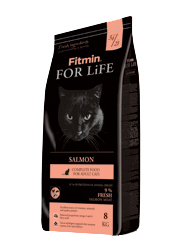 FITMIN CAT FOR LIFE ADULT SALMON KARMA DLA KOTÓW