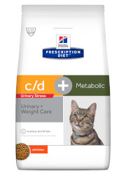 HILLS PRESCRIPTION DIET FELINE C/D URINARY STRESS + METABOLIC SUCHA KARMA DLA KOTA