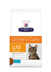 HILLS PRESCRIPTION DIET FELINE URINARY CARE C/D MULTICARE z rybami oceanicznymi
