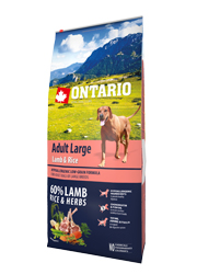ONTARIO ADULT LARGE LAMB and RICE KARMA DLA PSÓW RAS DUŻYCH