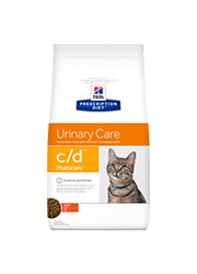 HILLS PRESCRIPTION DIET FELINE URINARY CARE C/D MULTICARE SUCHA KARMA DLA KOTA z kurczakiem