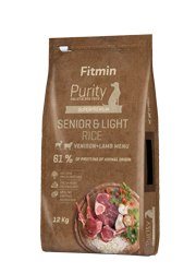 FITMIN DOG PURITY RICE SENIOR LIGHT VENISON LAMB